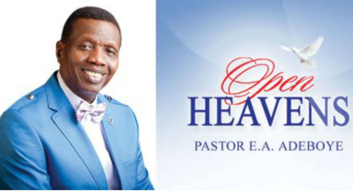 Open Heaven 25 September 2021 Saturday Daily Devotional By Pastor E. A. Adeboye – Weep Not; Rather Rejoice